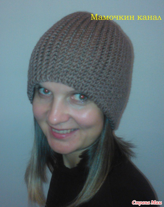 Страна мам вязание тёплой шапки крючком