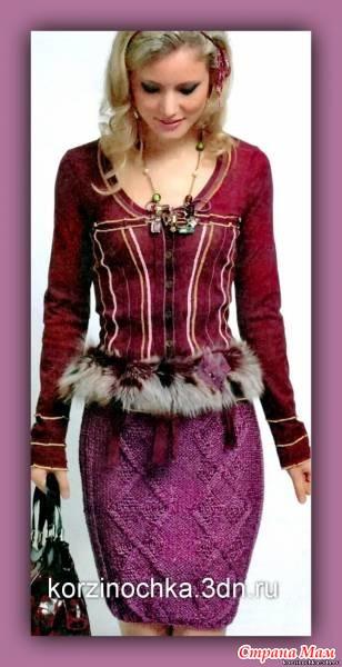 юбка резинка вязанная спицами: