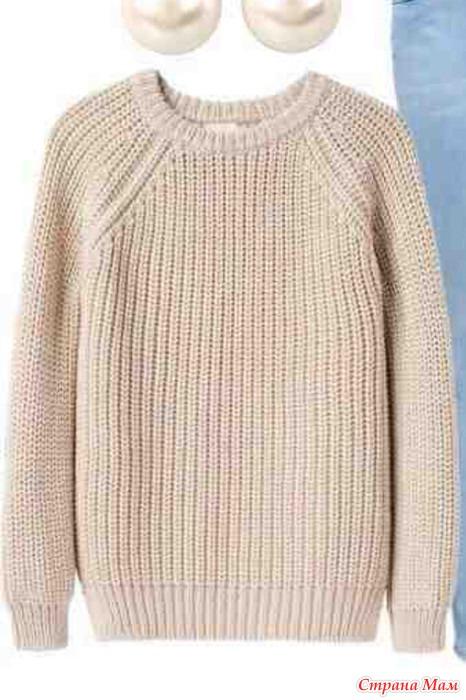 Как связать свитер спицами-реглан сверху