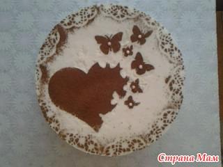 Как сделать рисунок на торте по трафарету