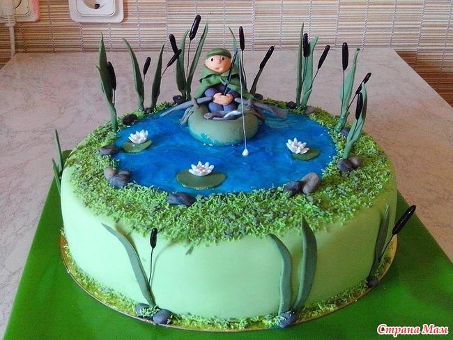 Торт для рыбака фото из мастики своими руками 96