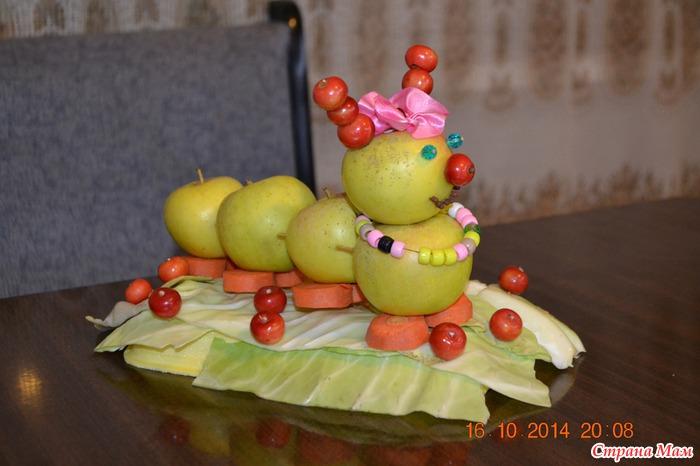 Поделки из яблок своими руками для детского сада фото как сделать 36