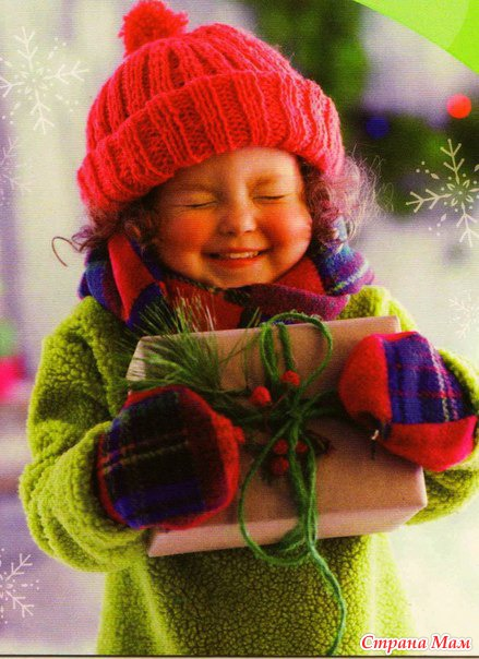 Картинка девочка в новый год