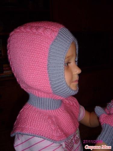 Вязание шапочки шлема ребенку 472