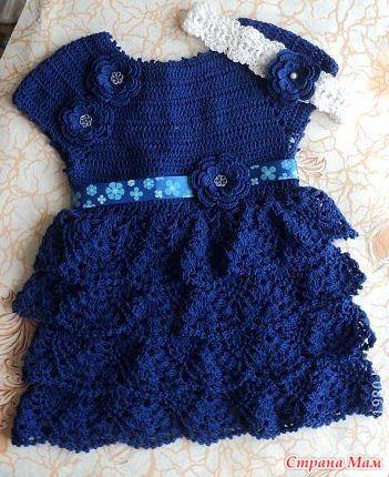 Вязание платьев для маленьких 92