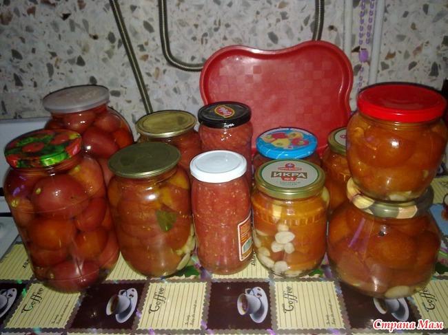 Рецепты из помидор на зиму огонек