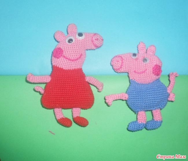 вяжем крючком игрушки свинка пеппа