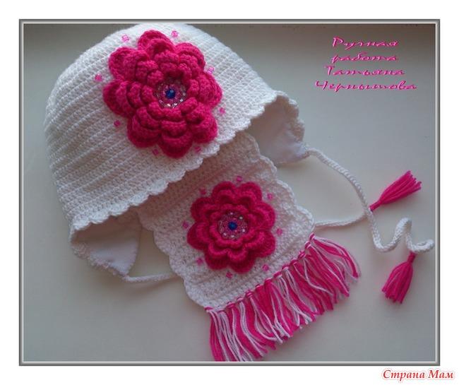 Вязание шарф для девочки на осень 1045