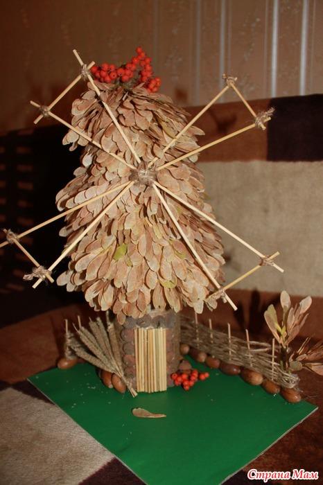 Поделки из природных материалов мельница
