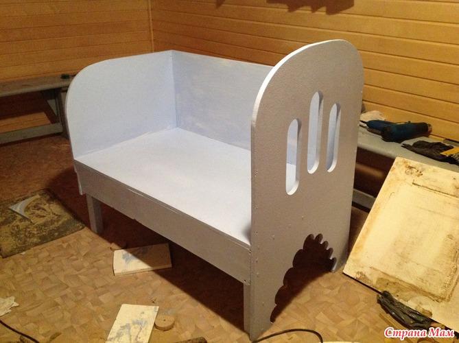 Приставная кроватка своими руками
