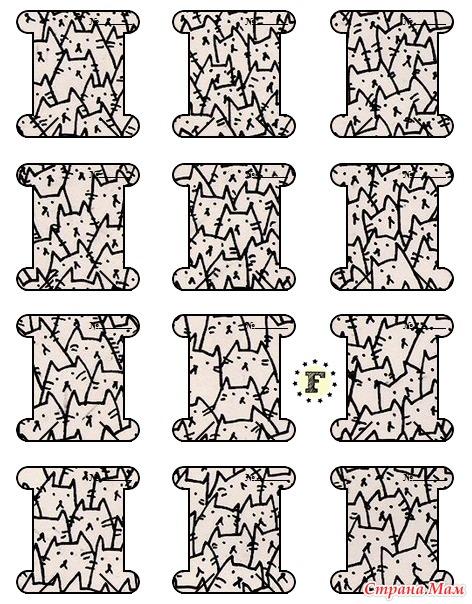 Бобины для мулине шаблоны
