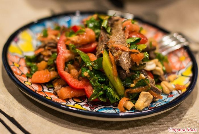 восточный салат с мясом рецепт