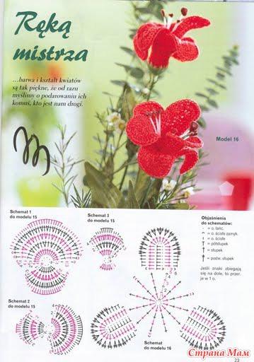 Вязание орхидеи крючком пошаговая инструкция