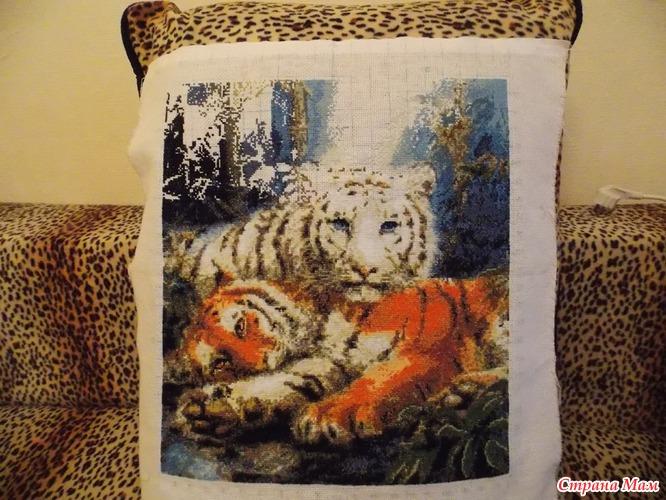 Вышивка процессы тигров