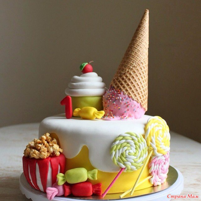 Торт из мастики маршмеллоу