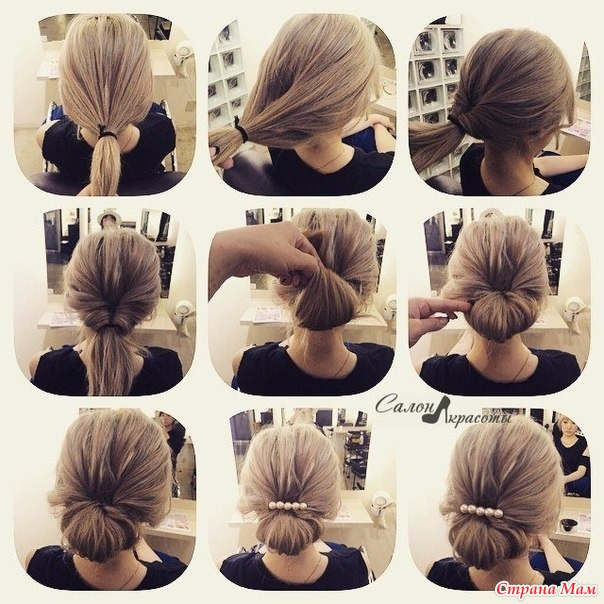 Как сделать быстро прическу на короткие волосы самой себе