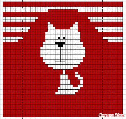 Схемы кошек для вязания
