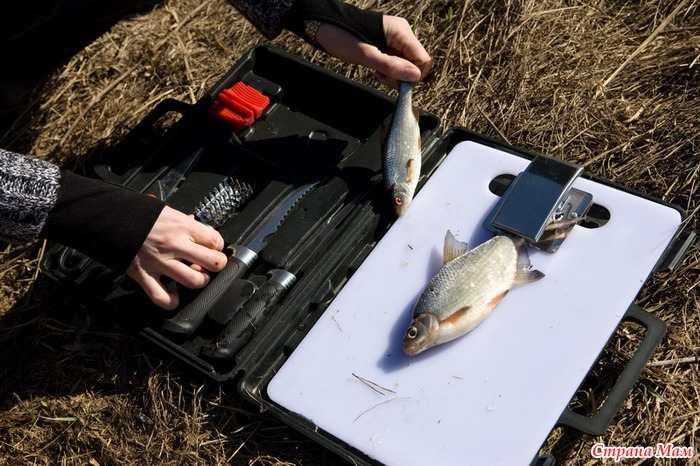 ножи в магазине рыболов