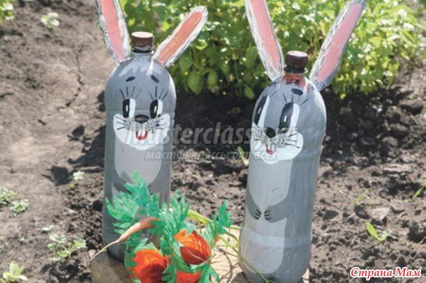 Поделки для сада своими руками из бутылки