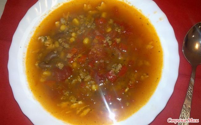 Суп с мясом без картошки