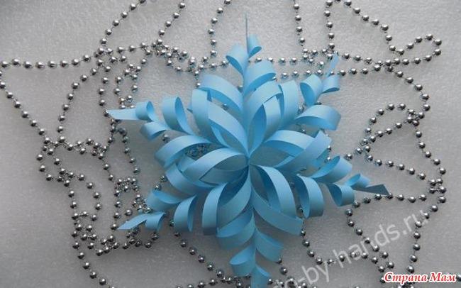 Как сделать снежинку из бумаги фото объемную