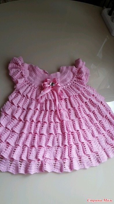Платье крючком зефирка схема вязания