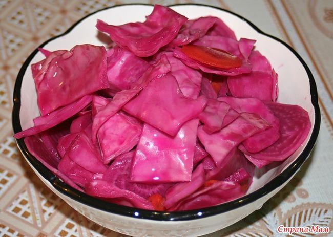 Фото рецепт маринованной капусты свеклой