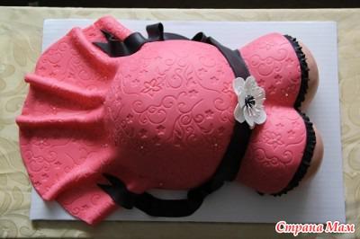 Торт беременный живот весь