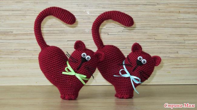 Кот валентинка своими руками