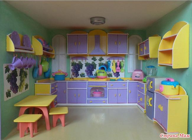 Кухня в кукольный домик своими руками