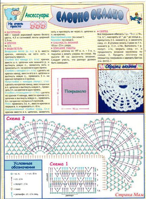 Комплект на выписку крючком схема описание на выписку