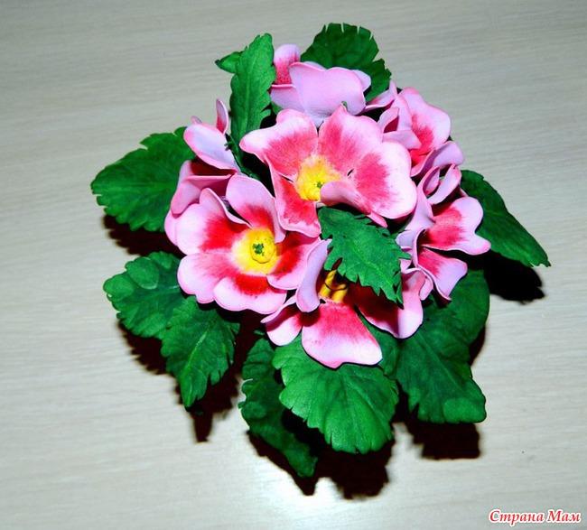 Цветы в горшках из фоамирана