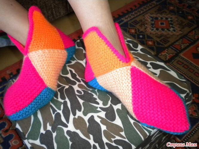 Тапочки из квадратов - Самое интересное в блогах