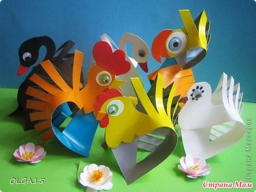 Птички мастер класс из бумаги