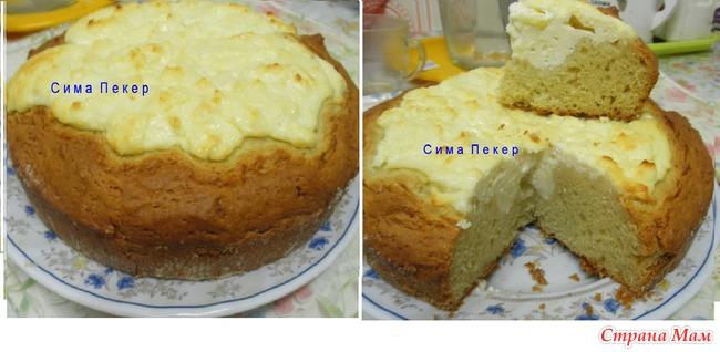 Творожный пирог на кефире рецепты с