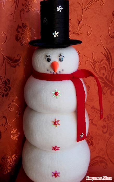 Бутылка снеговик своими руками