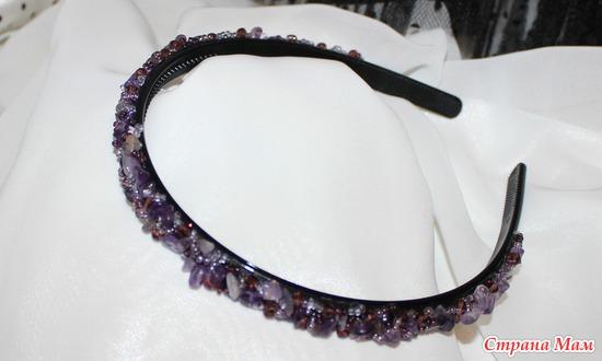 Обруч для волос с камнями