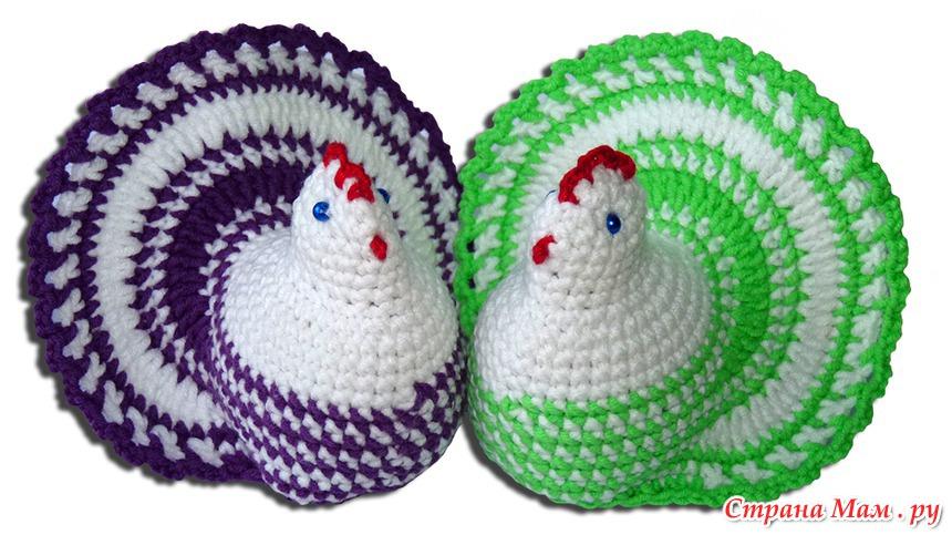 Вязание на пасхальной курочки