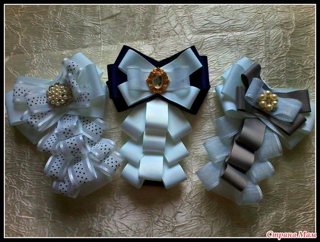 Канзаши галстуки для девочек мастер класс