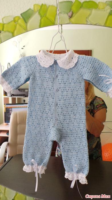 Вязание для новорожденного из хлопка