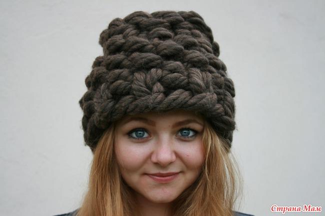 Как связать шапку для из толстой пряжи 183