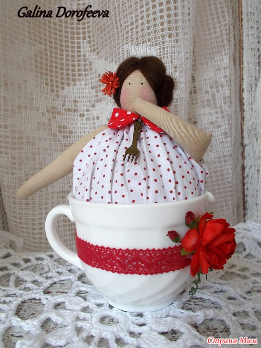 Кукла на кружку своими руками