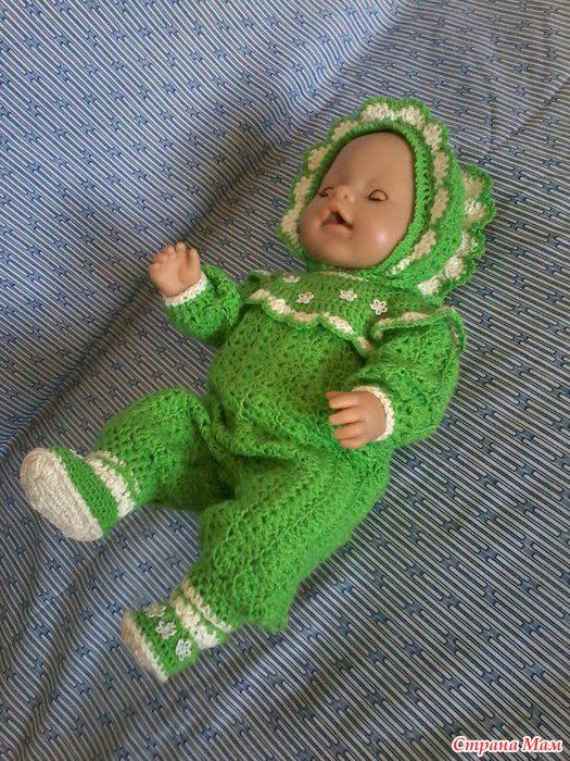 Вязание крючком комбинезон для куклы