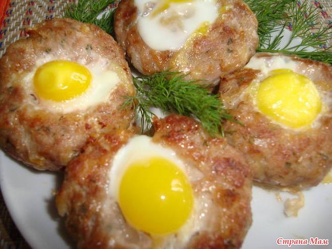 Зразы с яйцом с пошагово