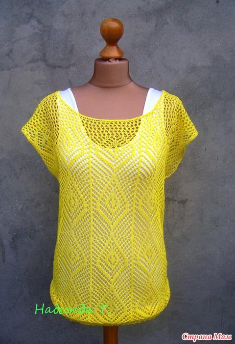 машинное ажурное вязание