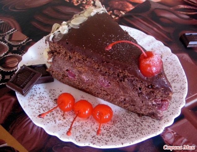Пьяная вишня торт фото