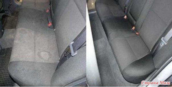 Как почистить сидения автомобиля своими руками
