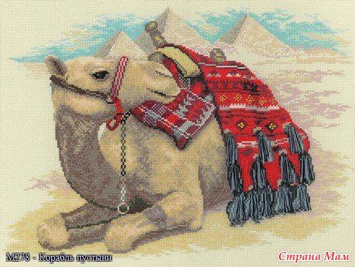 Верблюд вышивка