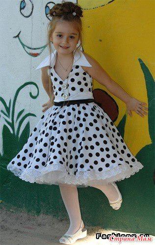 Платье стиляги для девочек как сшить
