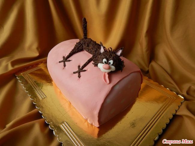 торт кот с колбасой белье попробуйте поносить